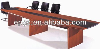 Wood veneer with pu upholstered 10 person office for 10 person conference table