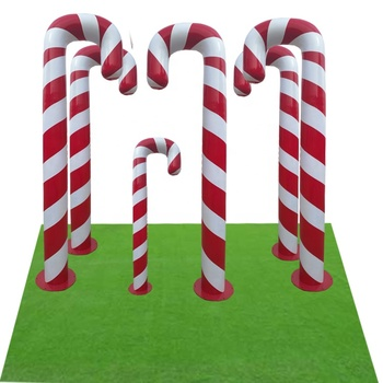 Indoor And Outdoor Large Plastic Candy Cane For Land Display Decoration Fibergl Decorations