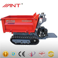 BY1000 small tractors construction of bungalow tracked motor wheel power barrow