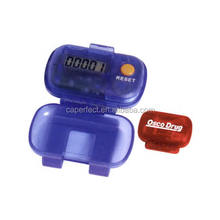 Diaphanous colorful step counter 3d pedometer calorie counter