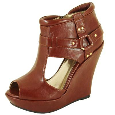 Qupid shoes women wedge sandal. CEDUCE,109