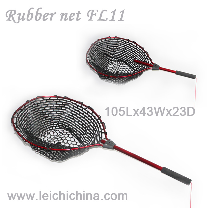 Aluminium frame extendable handle rubber telescopic landing net