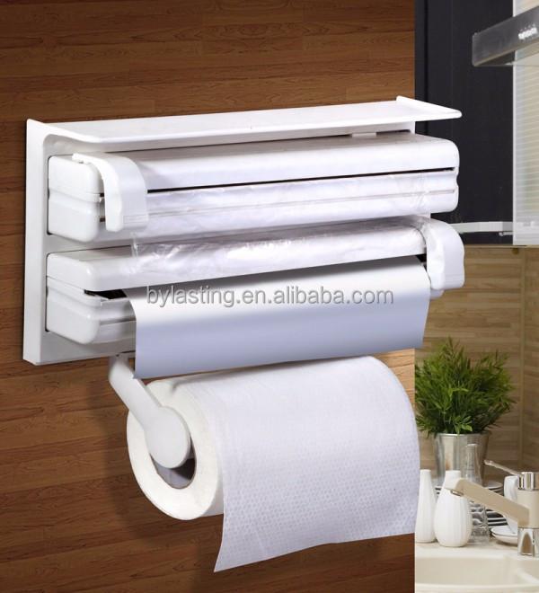 Triple distributeur de papier pour cuisine rouleau - Distributeur papier cuisine ...