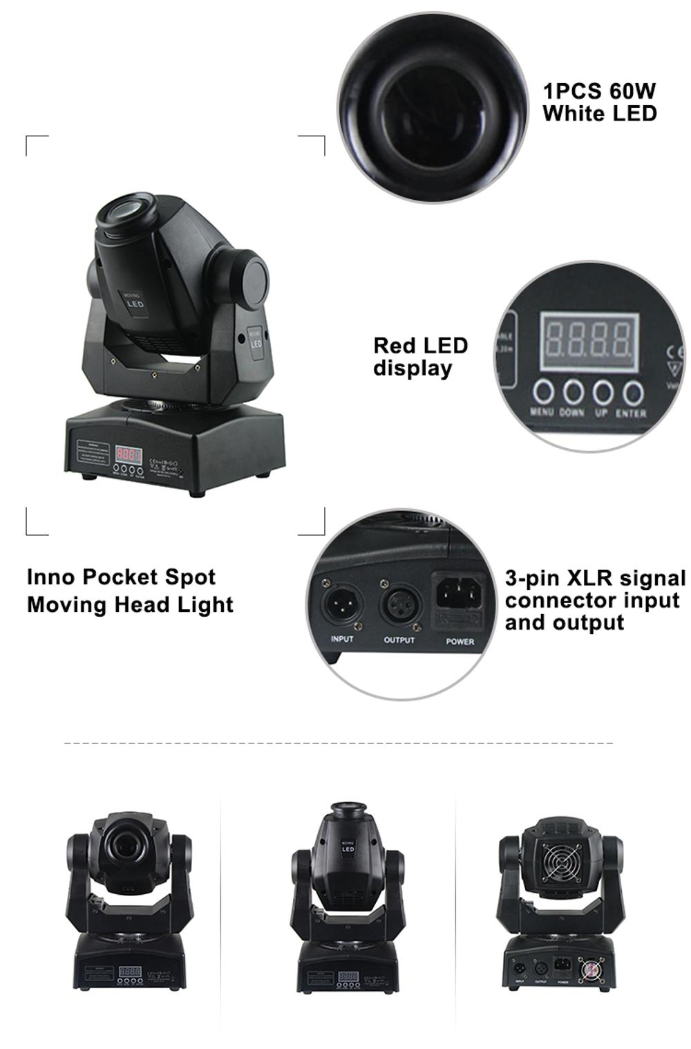 LED Moving Head 60W Mini LED Spot