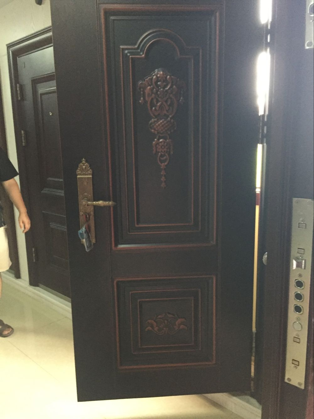 Fancy Turkey Armored Door Price Safety Steel Wood Door Design