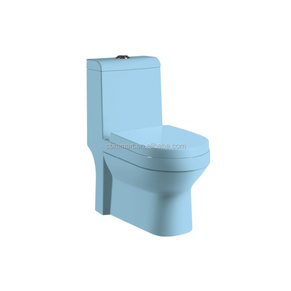 Dk-8918 Blue Color S-trap Bathroom Toilet - Buy Blue Toilet,S-trap ...