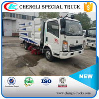 Hot Sale Sinotruk HOWO 4x4 4x2 LHD Right Hand Drive 5000L Sanitation Vacuum Road Sweeper Truck Manufacturer
