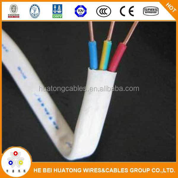 High quality copper pvc sheathed BVVB flat cable electric wires power cable