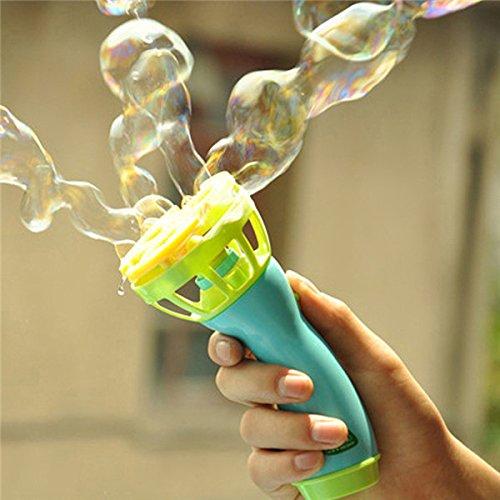 SICA Electric Bubble Machine Fan Blowing Bubble Gun Kids Playing Game Toy