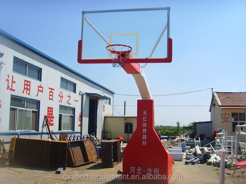 FIBA removable Electro hydraulic basketball stand for sale