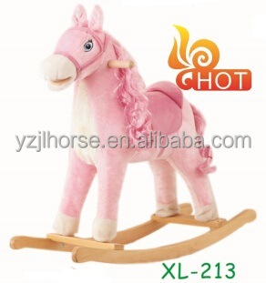 Pink Horse with Soomth Hair Horse for Girls Direct From Factory