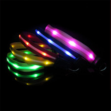 New Rechargeable LED Dog Collar USB with Leash Set