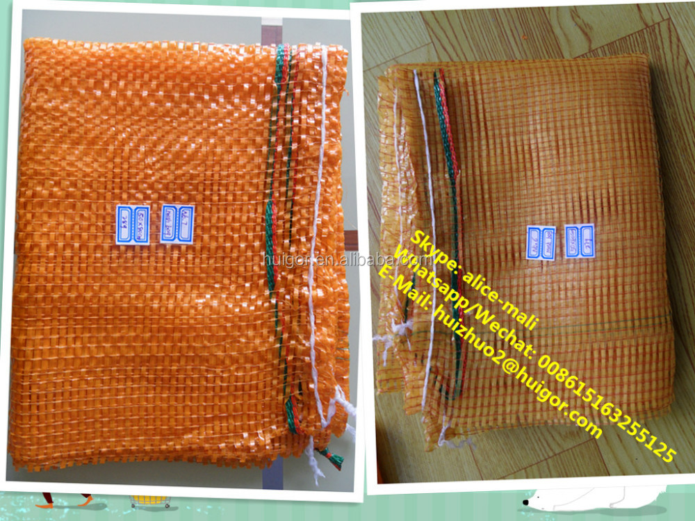 high quality pp plastic rubber mesh orange potato rubber net bag