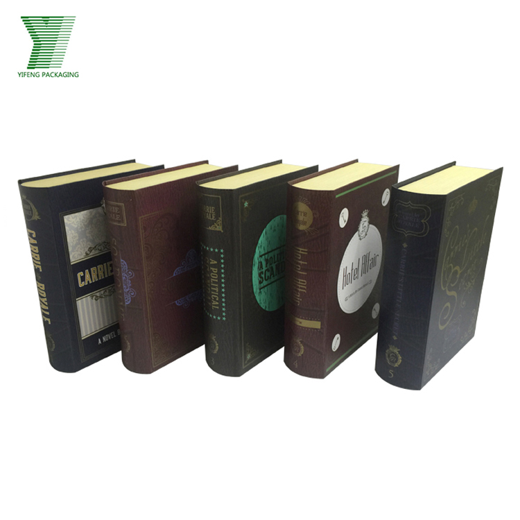 High-end book shaped boxes customized paper cigarette box