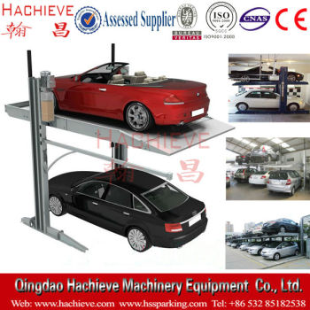 Garage Car Storage System Hydraulic Two Post Lift Ramps