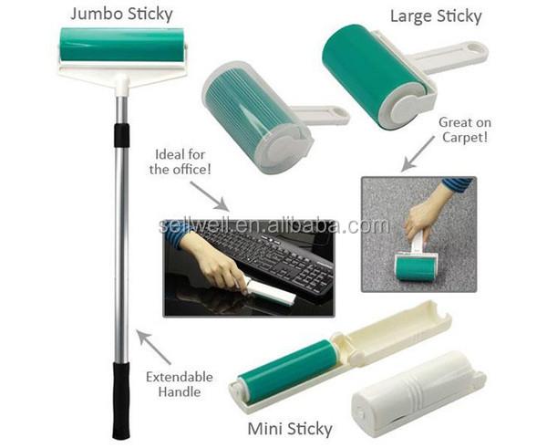 MICROMILL PP sticky lint roller borstel set lange handvat siliconen borstel, schoonmaken lint roller