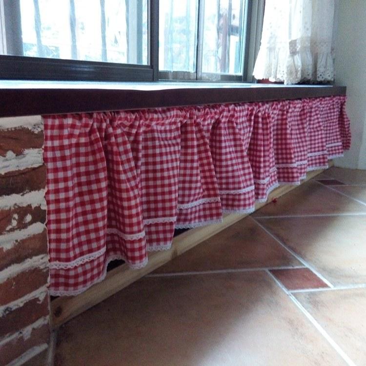 rideau de cuisine nuances de rouge photo. Black Bedroom Furniture Sets. Home Design Ideas