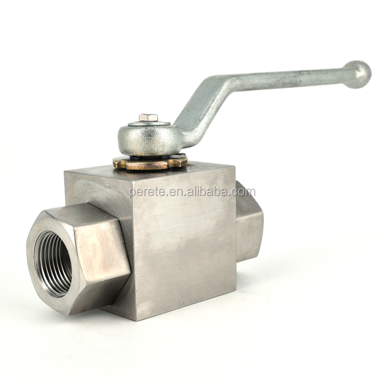 Forged BSP NPT Female Thread Stainless Steel Hydraulic Ball Valve For High Pressure