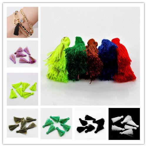 120PCS 25mm Handmade Silky Tassels <font><b>Decoration</b></font> Pendant High quality auxiliary material <font><b>Bohemian</b></font> national style Multipurpose