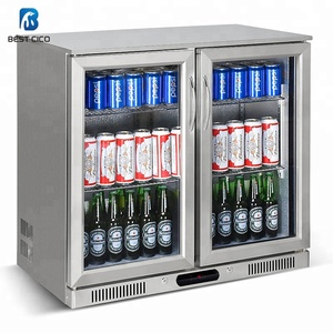 2 door undercounter bar fridge with stainless steel hinged doors under counter beer freezer for beer cooling SC-208FS