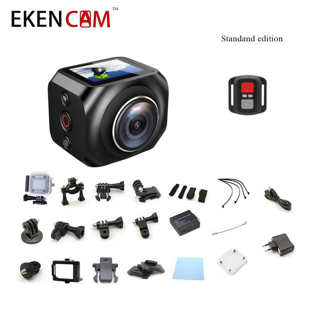 New Original EKEN WiFi Remote Control Video 220 Degree Ultra Wide Lens 190 DV H360 R360 VR360 Camera Action Sports Camera