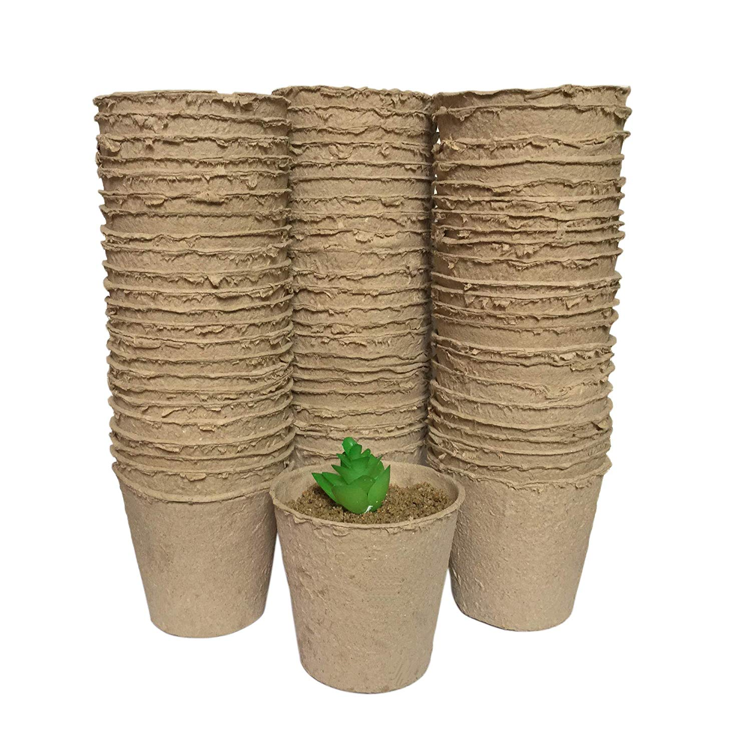 Greenylife 3 Peat Pots For Vegetable Starter Pack Of 100 Round Paper Nurcery