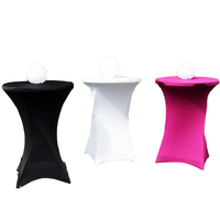 high top folding cocktail spandex table cover for wedding