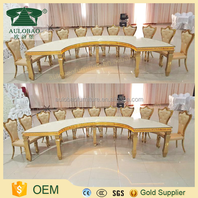 Good Best price wedding gold frame mdf dining table