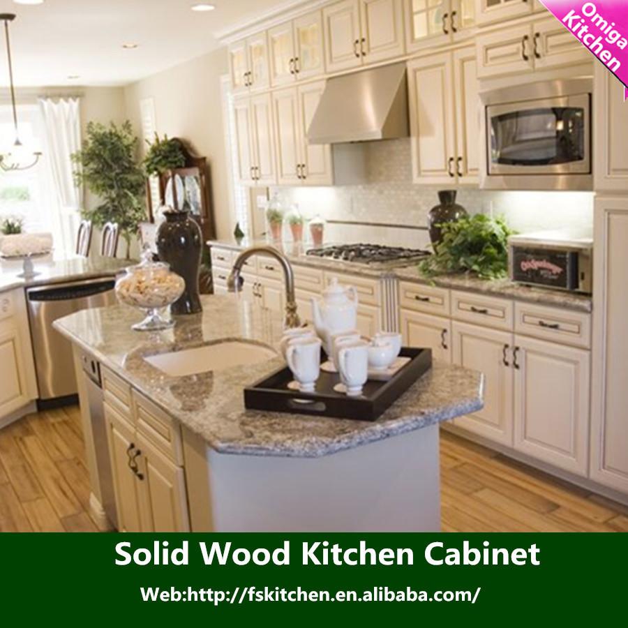 Upscale Kitchen Cabinets: Luxury Antique White Maple Solid Wood Kitchen Cabinet Door