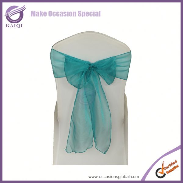 3546 teal organza masonic wedding lace sash for chairs chair sash