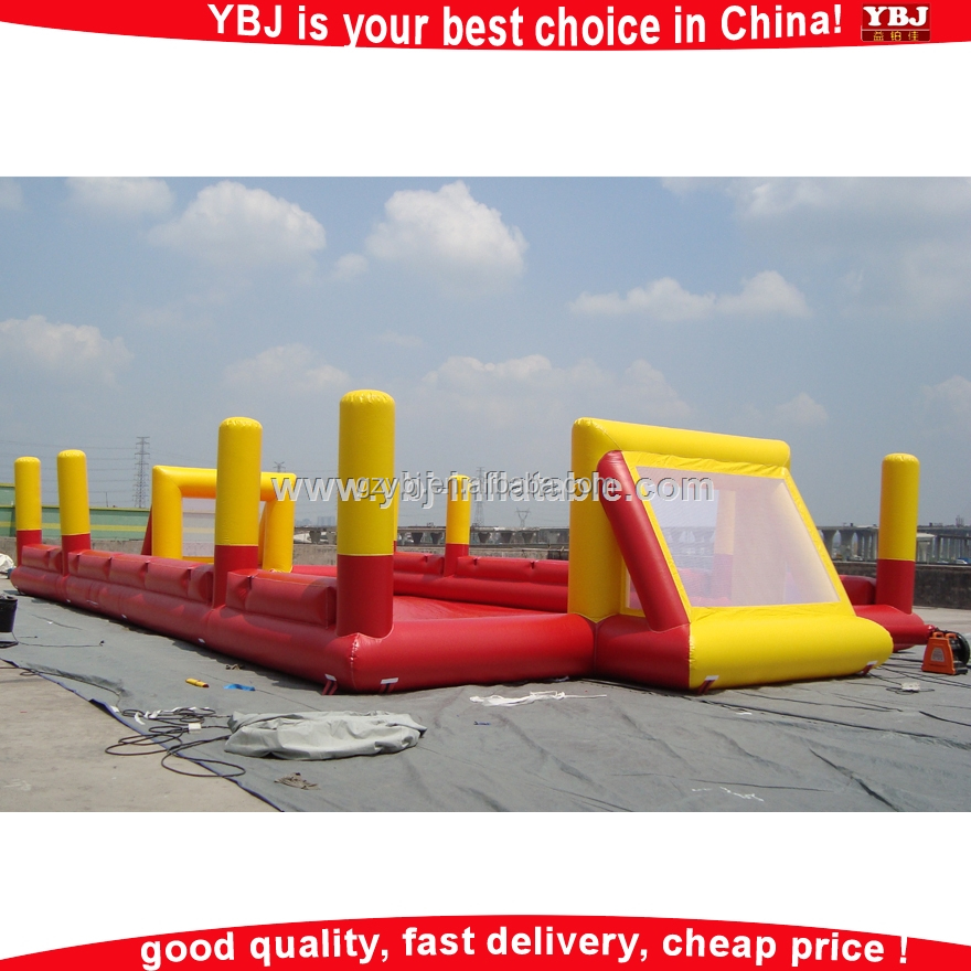 YBJ inflatable football goal posts/cheap inflatable sports/inflatable football bouncer field