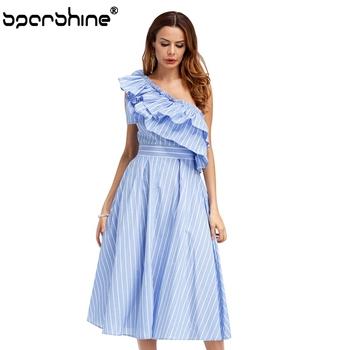 cbc7371faa62 Casual Dress Women Clothes Formal Clothes Women Ladies Off - Shoulder Dress  Lpga Dress Code