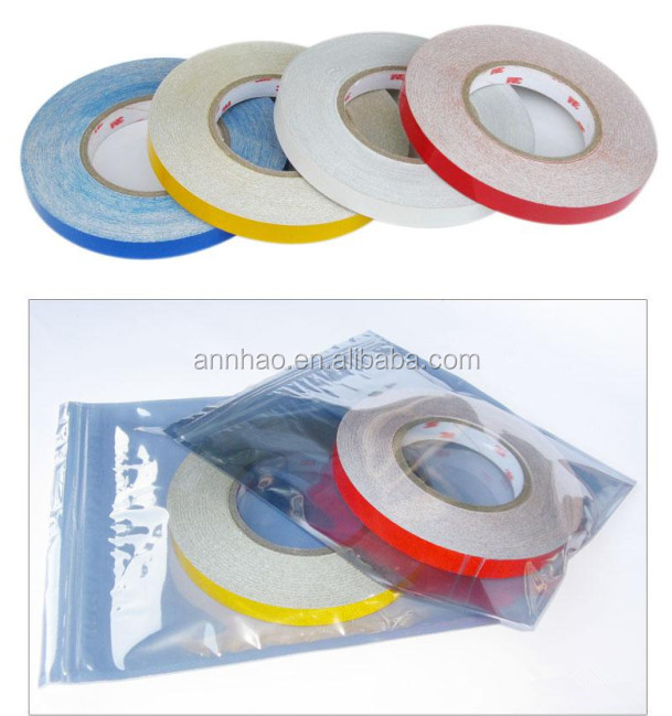 1cm, 1.5cm, 2cm Width 45.7m Length Reflective Sticker Tape for Car Safe Decal
