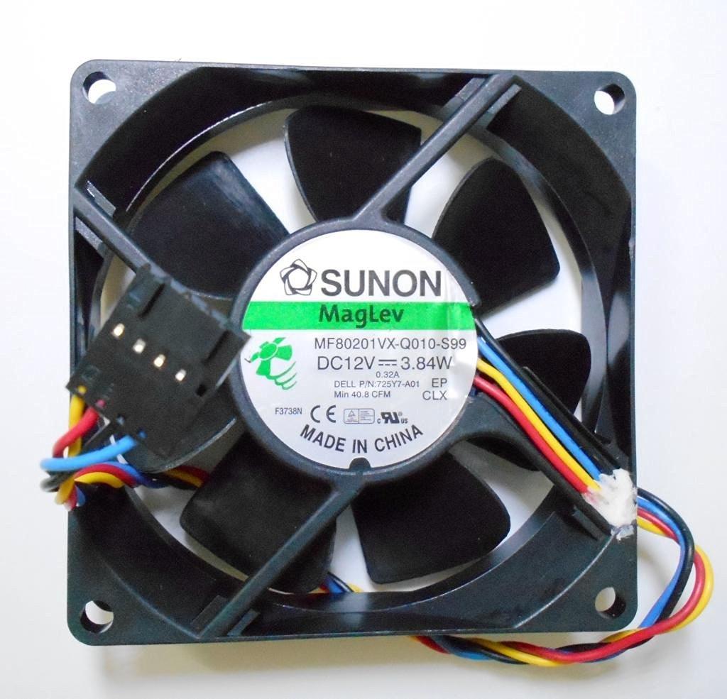 SUNON MF80201VX-Q010-S99 Fan 12V 3.84W 80*80*20mm 4wire 5pin