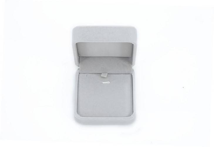 Beautiful velvet plastic jewelry pendant gift box necklace packing box