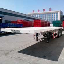 40ft Container semi trailer 3 axle flatbed semi trailer 12pcs twist lock for one 40ft 0r two 20ft