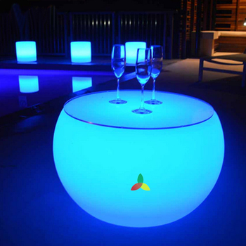 plastic LED removable  Celebrations Wedding and Party LED Bar tea Table for living room