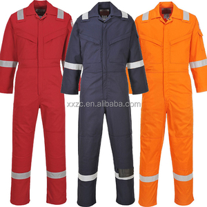 Safety Garment Factory 80%CO 19%PE 1%AS Flame Retardant Antistatic 320gsm Workwear Uniform Producer
