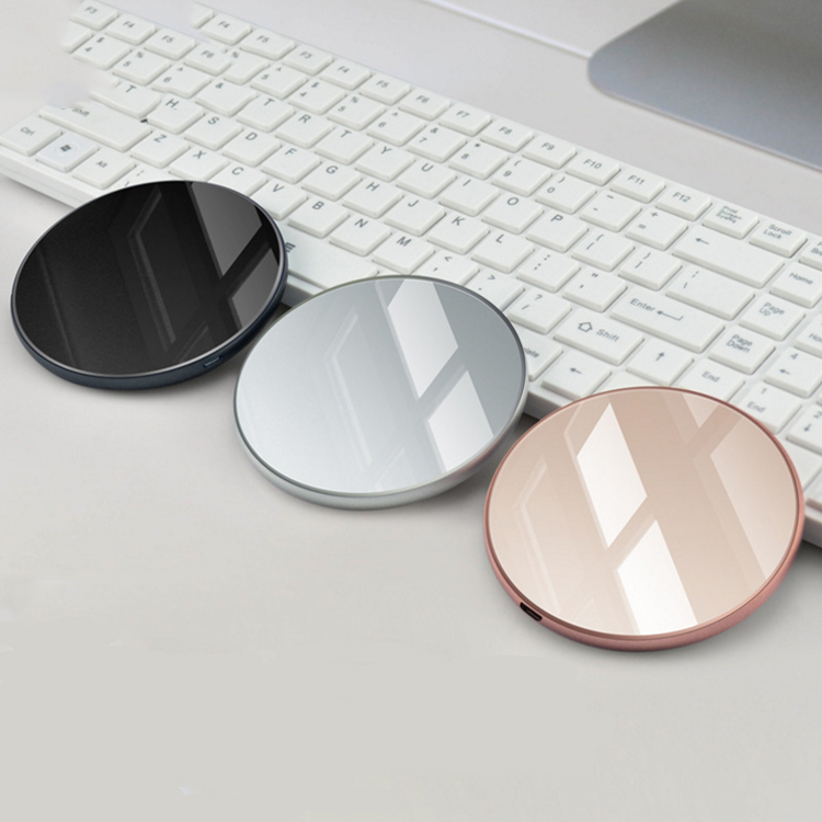 Mobile phone accessories Automatic induction Portable universal wireless charger smooth touch for smart phone фото