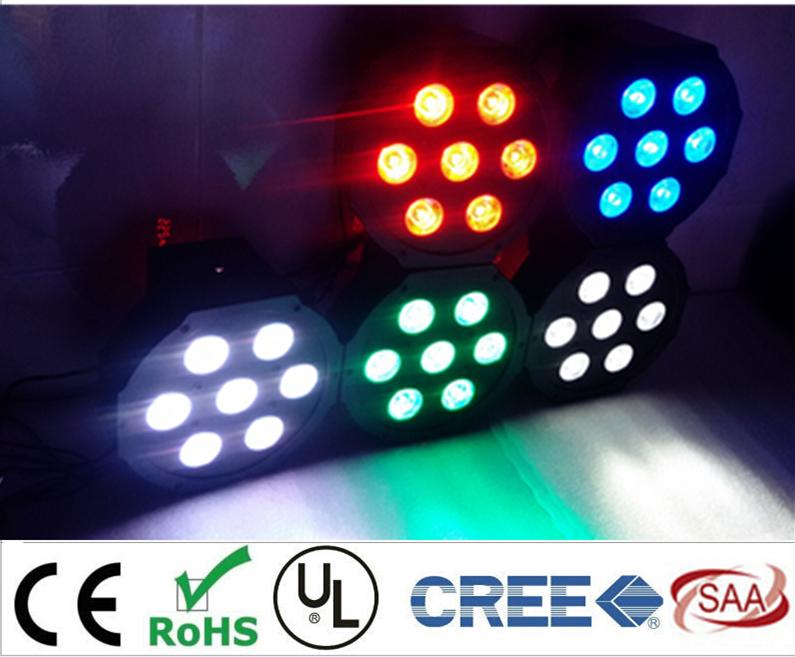 CREE LED Par 7x12W RGBW 4IN1 LED Luxury DMX 4/8 Channels Led Flat Par Lights