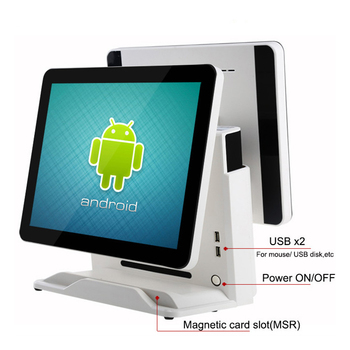 Wifi LTE POS system dual screen 15.6 inch 11.6 inch android / window TFT capacitive touch screen All in one monitor