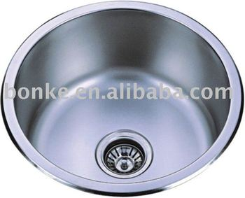 Single Bowl Round Stainless Steel Sink Of 450mm Round Sink