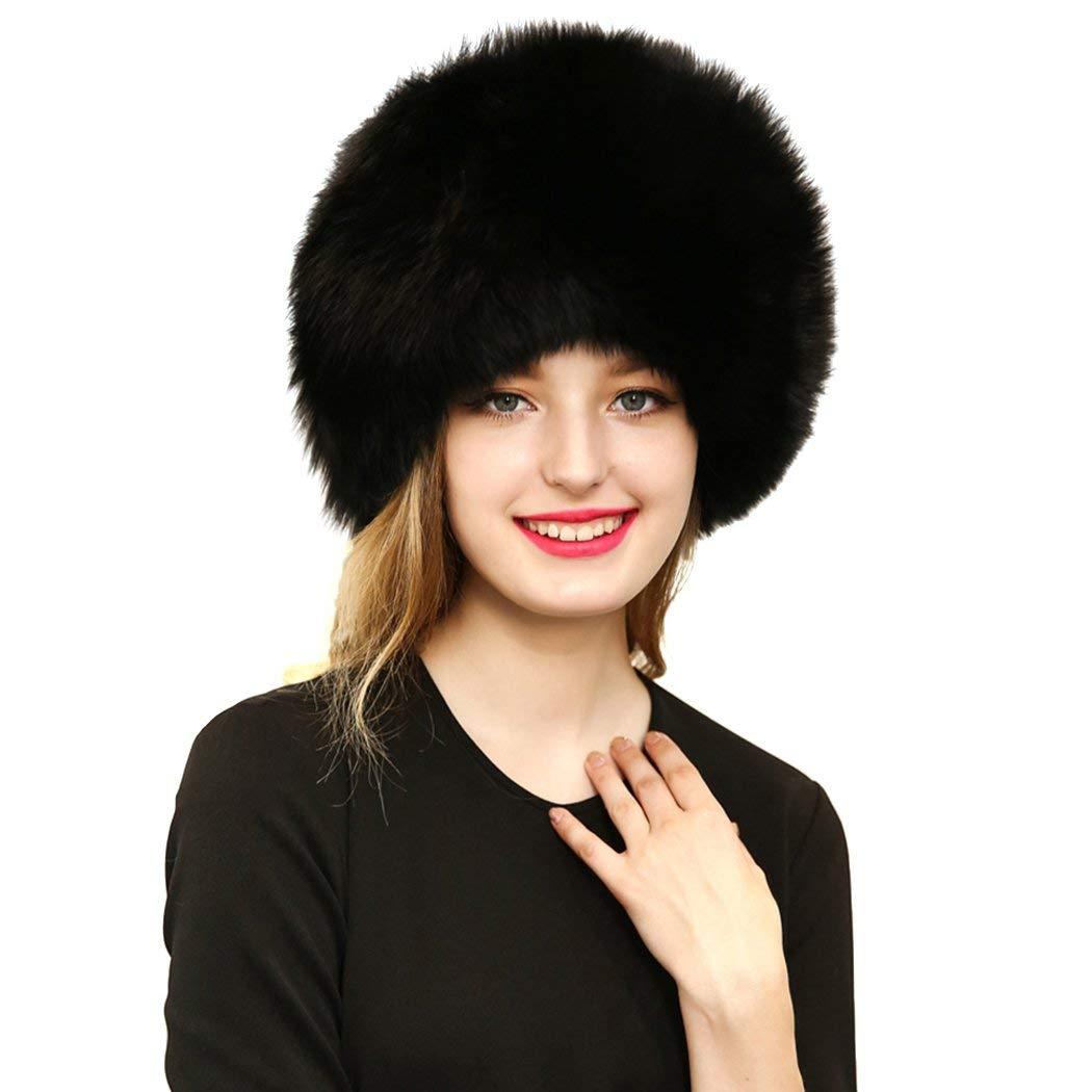 Get Quotations · XWDA Women Winter Faux Fur Russian cossack Style Hat  Headband Ear Warmer 61cf6fcaafbc