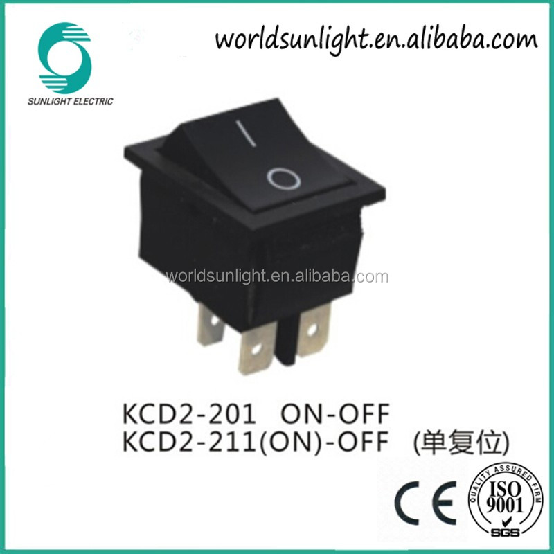Kcd2-211 Black (on)-off 4 Pin Momentary Rocker Switch - Buy Kcd2 ... 5a953c385be