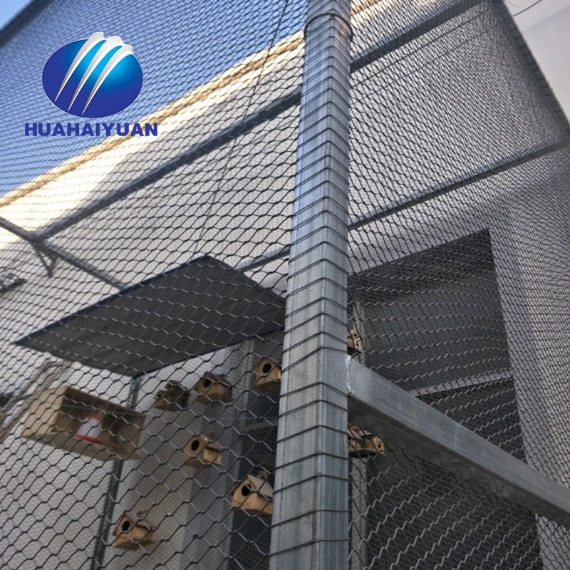 Ferrule Stainless Steel Cable Mesh high quality SUS304 wire rope mesh zoo mesh