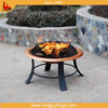 Multi-functional copper color garden fire pit with steel material
