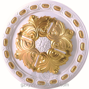 Decorative crown gypsum plaster fiberglass cornice for Fiberglass crown molding