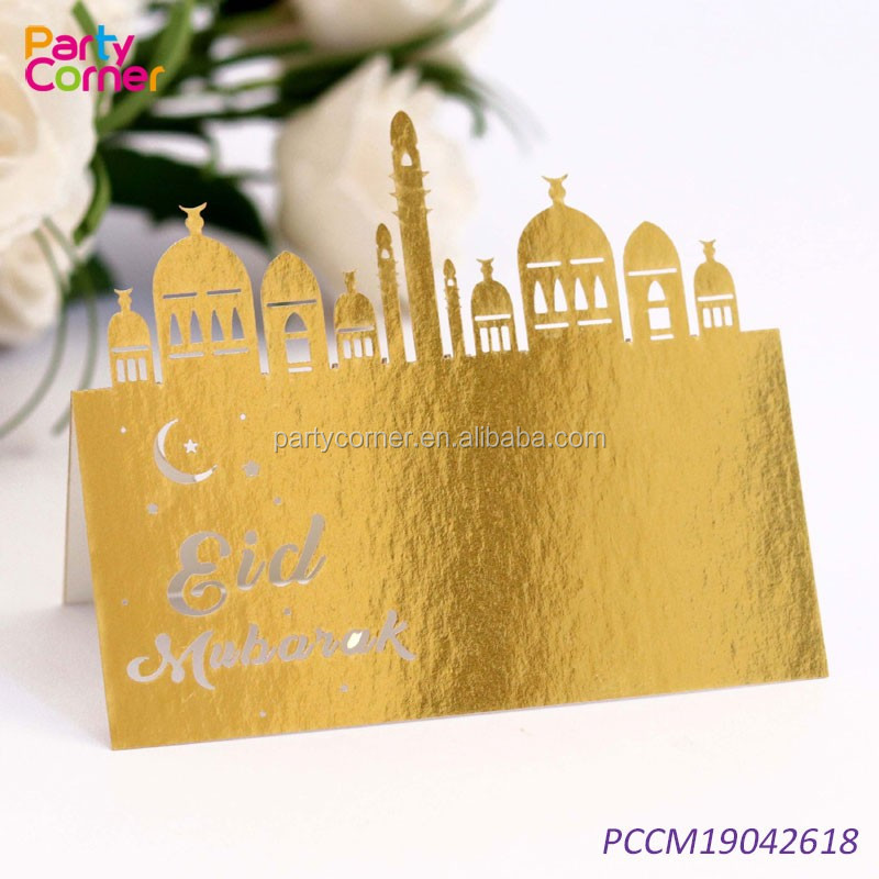 muslim decorative table card eid accessories ramadan