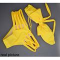 2016 Newest Yellow Bandage Bikini Brazilian Bikinis Bow Swimwear Halter Swimsuit Beach Cute Bathing Suits For