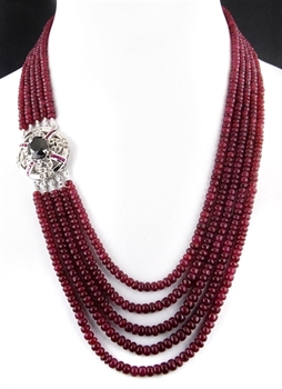 Ruby Necklace Black Diamond Clasp In Houston - Buy Black Diamond ...